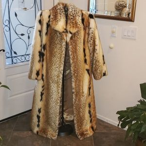 Pamela McCoy Faux Fur Coat Golden Lynx